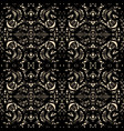 ornate black guipure lace seamless pattern vector image