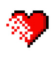 Pixel art heart love color icon valentine
