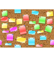 post it notes background vector image vector image