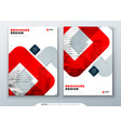 red brochure design a4 cover template for vector image vector image