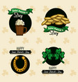 saint patricks day emblems vector image