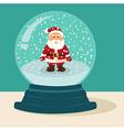 Santa Snow Ball vector image vector image