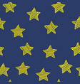 scribble stars on dark blue background christmas vector image vector image