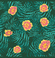 seamless tropical pattern vivid tropic vector image