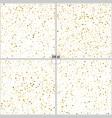set of gold glitter background polka dot 4 in 1 vector image