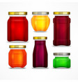 set of jars with jam vector image vector image