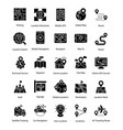 set of map and navigation glyph icons vector image vector image