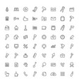 set of outline icons vector image vector image