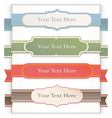 Set of retro ribbons and labels vector image vector image