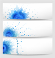 Set of three abstract white-blue banners vector image
