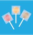 set sweet lollipops vector image