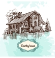 Sketch style house vector image vector image