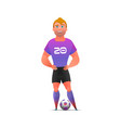 soccer football player standing full length vector image vector image