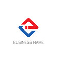 square line business company logo vector image vector image