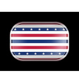Stars and Stripes Flag Rectangular Shape vector image vector image