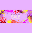 summer bright sale banner for 2021 hot season vector image
