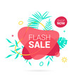 summer sale banner template liquid abstract vector image vector image