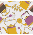 tea kettle wallpaper vector image vector image
