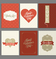 template of valentine greeting card and invitation vector image