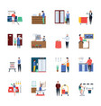 tourism housekeeping icons pack vector image vector image