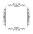black square frame with floral patterns vector image
