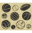 Sports Balls - set vector image
