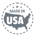 made in usa country logo simple style vector image