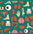 cartoon human internal organs background pattern vector image