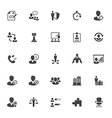 Management and Human Resource Icons vector image