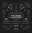 set of vintage retro linear thin line art deco vector image