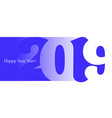 2019 blue vector image vector image