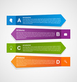 Abstract paper infographic template vector image