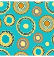 Abstract seamless with round gold pattern vector image