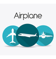 Airplane design vector image