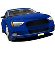 al 0428 blue car vector image vector image