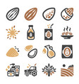 almond icon vector image vector image