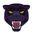 angry black panther head logo wild cat vector image vector image