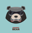 Bear head Angry bear logo Hockey emblem vector image vector image