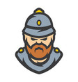 british policeman cartoon vector image vector image