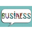 Business word letters people vector image vector image