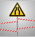 carefully narrow the passage safety precautions vector image