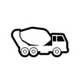 cement truck icon design template isolated vector image