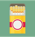 cigarette flat vector image vector image