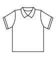 clean polo shirt icon outline style vector image