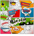 Comic book page divided by lines vector image vector image