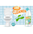 cool mint toilet cleaner ad vector image vector image