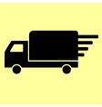 Delivery sign Flat style icon