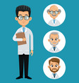 doctor professional health- faces icon vector image vector image