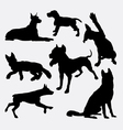 Dog pet animal silhouette 17 vector image vector image