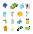Ecology isometric 3d icons vector image vector image